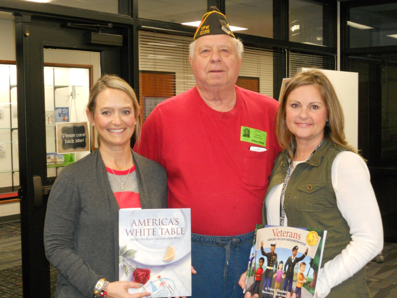 Each year as part of our POW/MIA program VFW Post 2195 donates, age appropriate books, about the military to local schools.